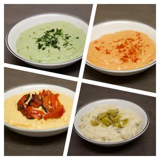 Hummus - 4 estilos diferentes