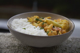 Vegetable Coconut Curry with Coconut Rice