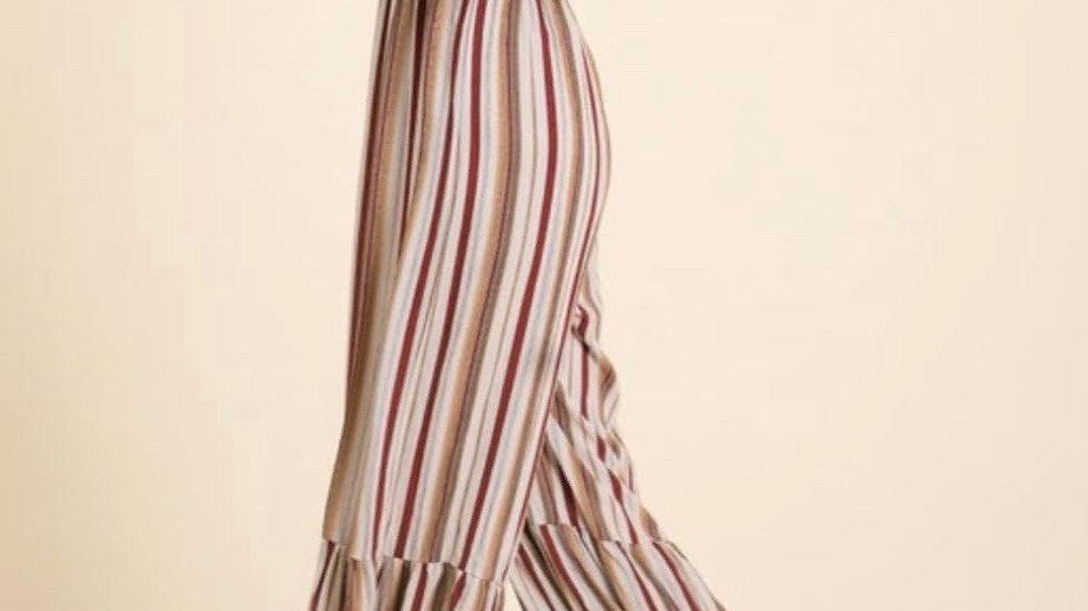 Taupe Stripe jumpsuit