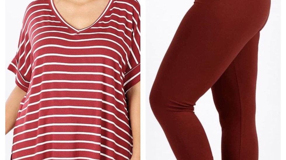 Plus Stripe Set