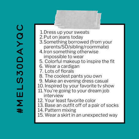 Mel's 30-Day Quarantine Style Challenge