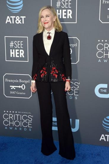 Catherine O'Hara at the 2019 Critics Choice Awards
