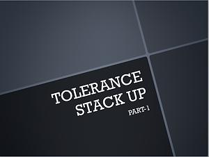 tolerance stack up