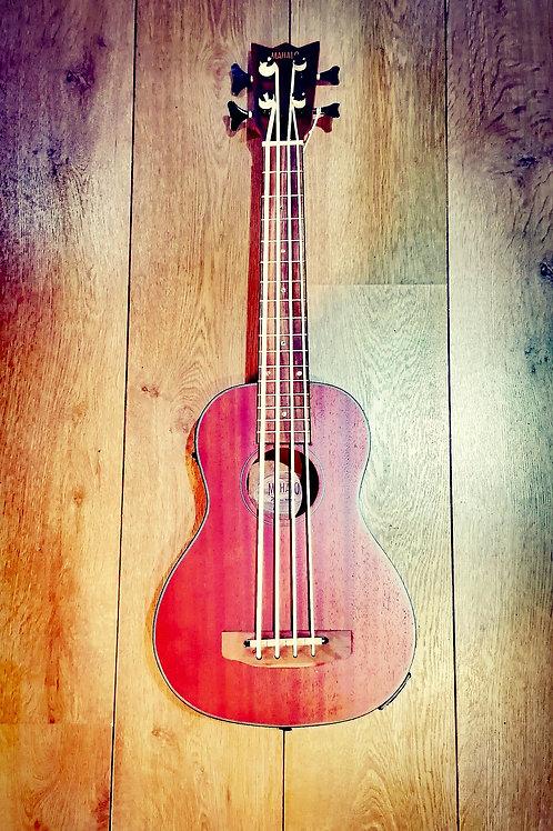Mahalo Electric Acoustic Bass ukulele with bag