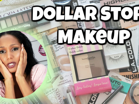 FULL FACE OF DOLLAR STORE MAKEUP │Trying For The First Time - Review
