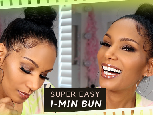 Easy 1-Minute Bun with Perfect Edges