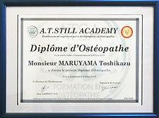 Diplome d'Osteopathe, オステオパシー, 世界水準, 実績, オステオパシー専門院, 東京, 埼玉, 千葉, 神奈川,治る