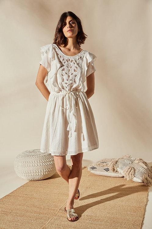 Louizon Diamond Dress Ecru