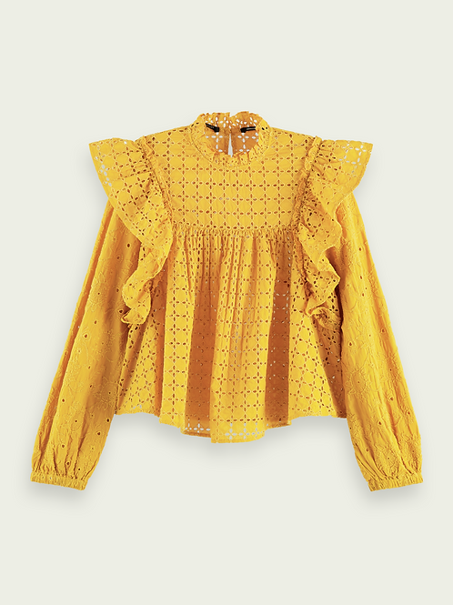 Scotch & Soda Top Broderie Anglaise