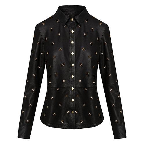 Depeche Leather Blouse