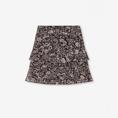 Alix The Label Flower Linen Skirt