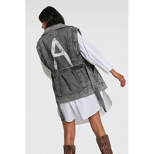 Alix The Label Denim Oversized Waistcoat