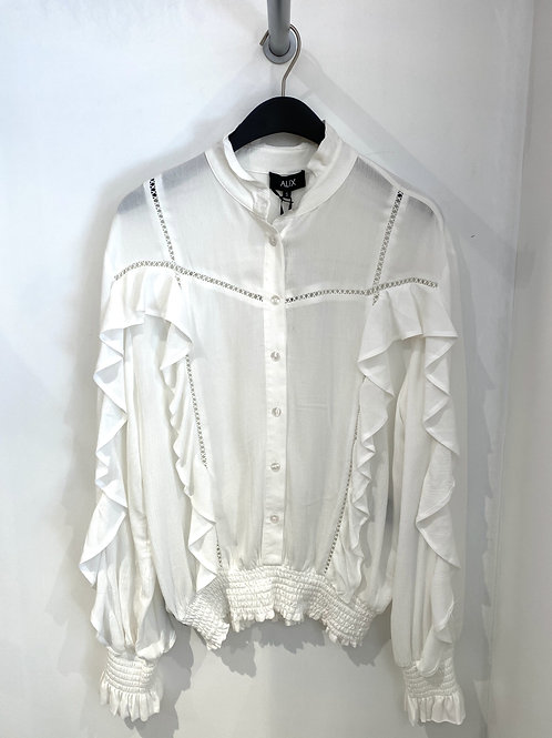 ALIX THE LABEL Woven blouse with tapes ruffles