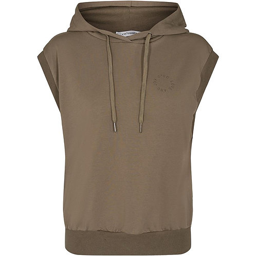 Co'Couture Rush Hoodie Vest Army