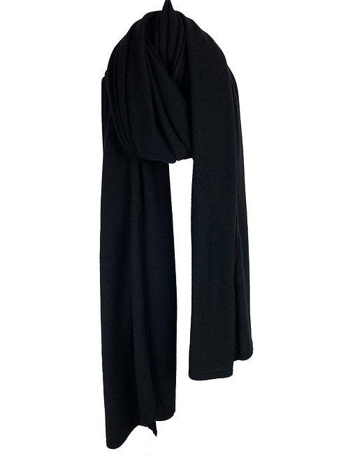 SjaalMania Cosy Chic Solid Black