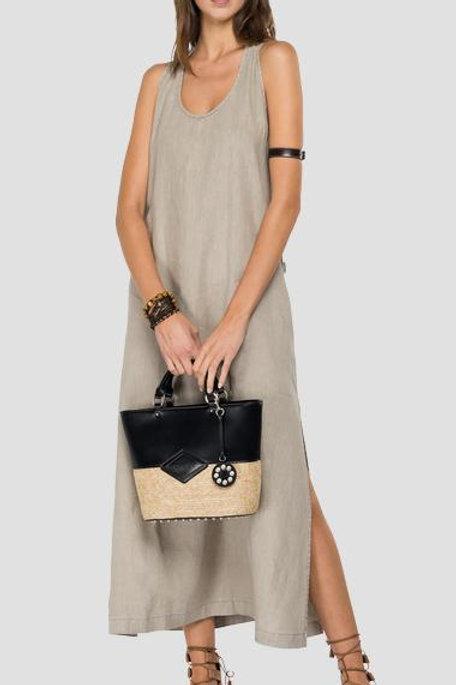 Replay Essential Long Dress Linen