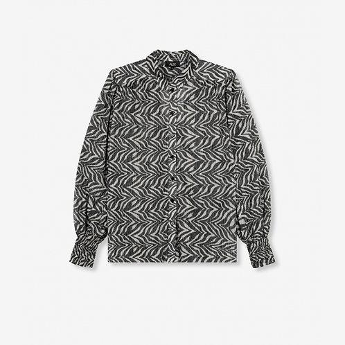 ALIX THE LABEL Zebra lurex blouse