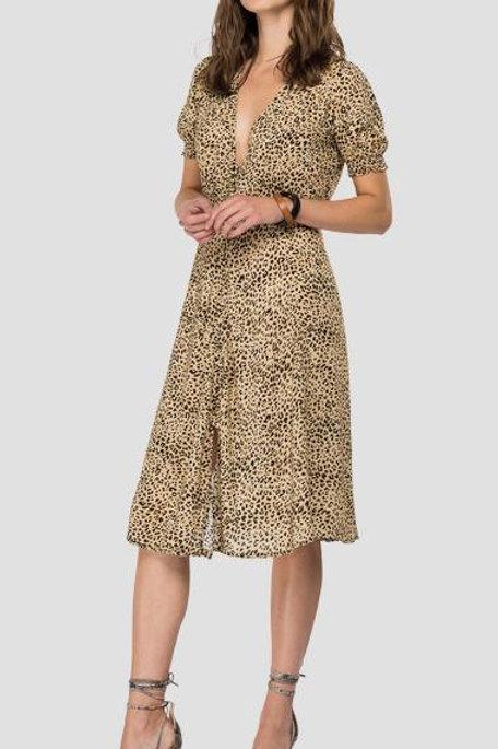 Replay Viscose Dress Animal Print