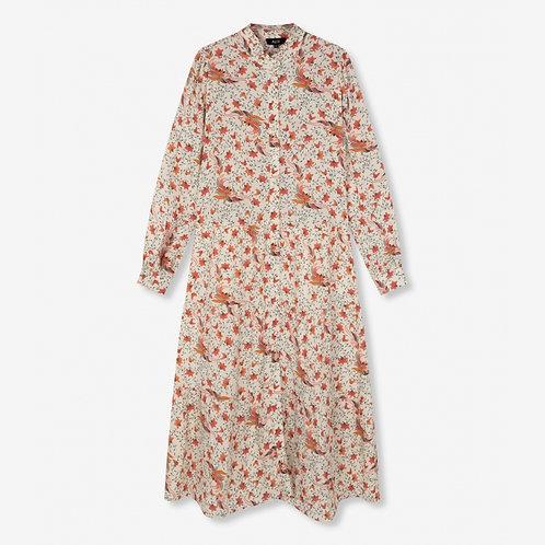Alix The Label Floral A-Line Mid Dress