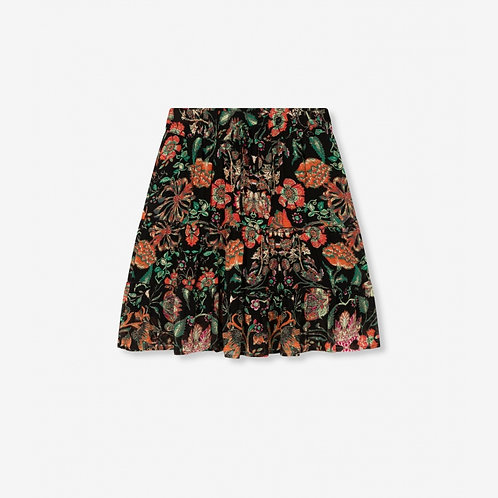Alix The Label Multi Colour Chiffon Skirt