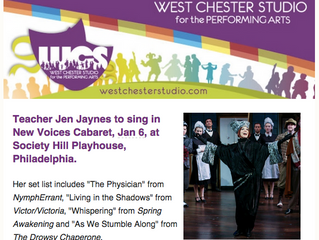 West Chester Studio For The Performing Arts Newsletter - Meet Me As A Teacher!