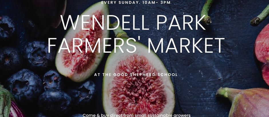 Wendell Park Farmers'Market!
