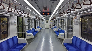 The inside of the subway