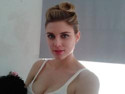 Hair up & Ashley James