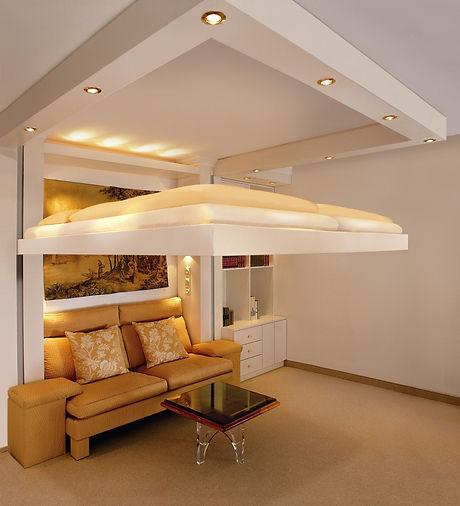 Liftbed luxe-uitvoering zwevend bed in alle RAL kleuren mogelijk