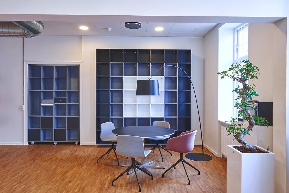 empty office space for hybrid work model return