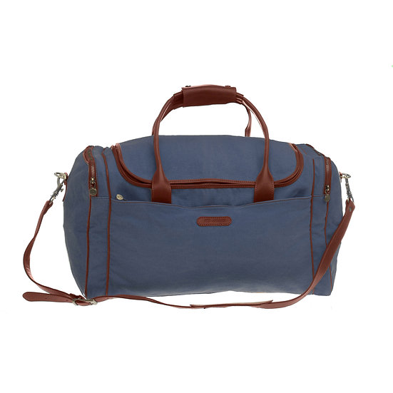 Bespoke Indigo Canvas Travel Bag