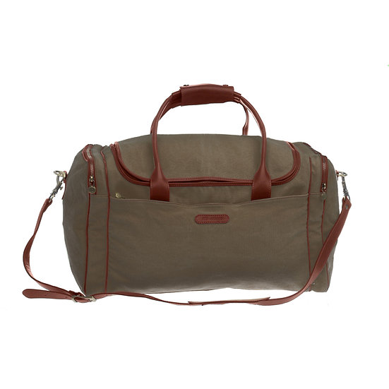 Bespoke Khaki Canvas Travel Bag