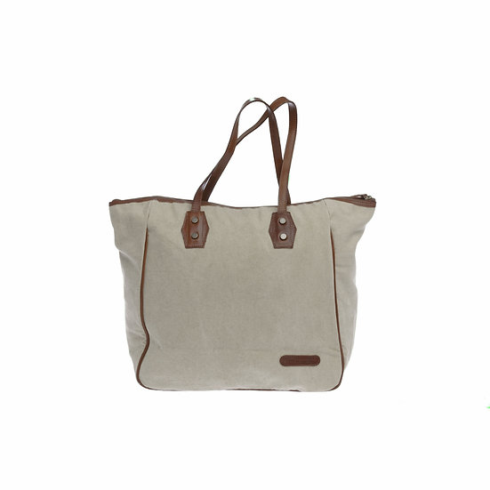 Bespoke Taupe Canvas Tote Bag