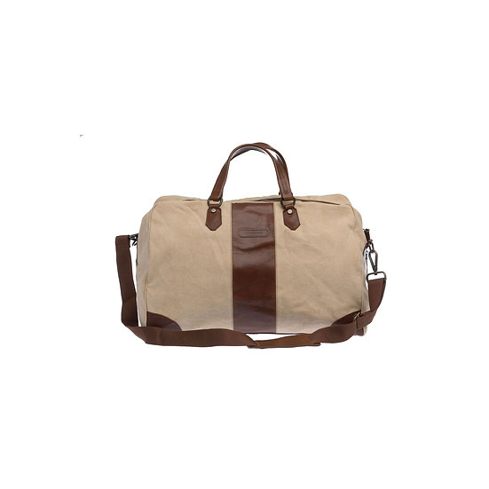 Bespoke Sand Canvas Duffle Bag