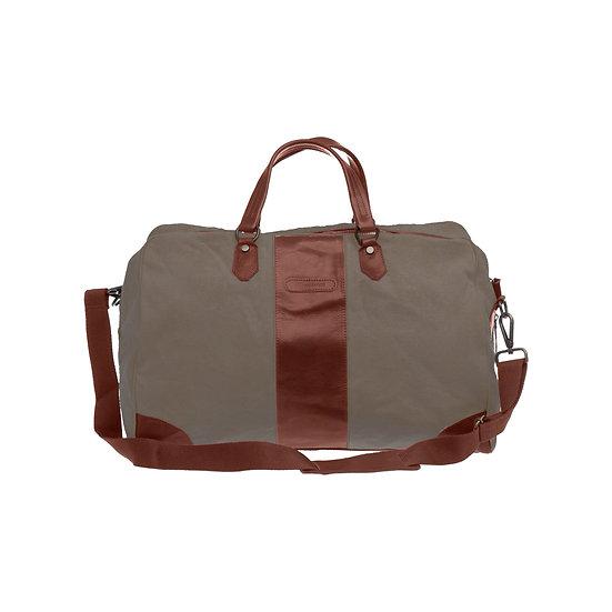 Bespoke Taupe Canvas Duffle Bag