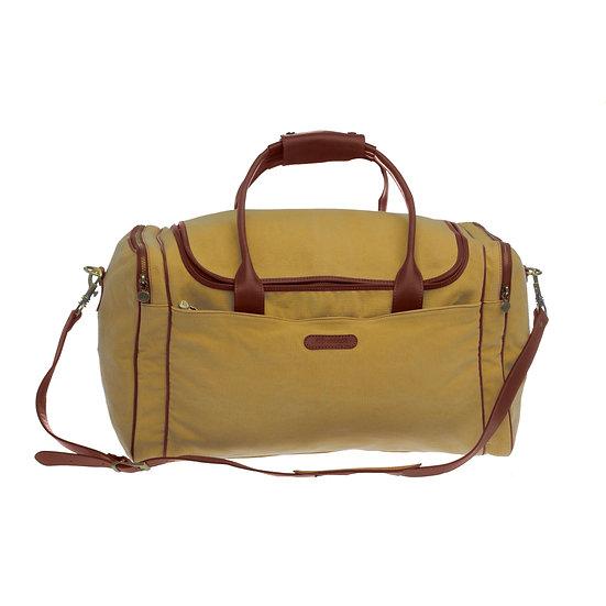 Bespoke Chartreuse Canvas Travel Bag