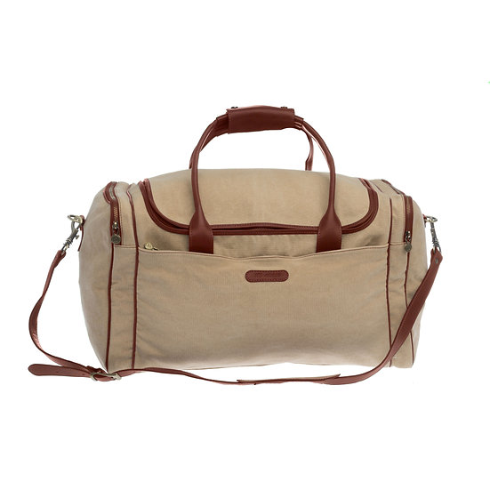 Bespoke Sand Canvas Travel Bag