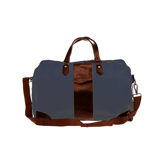 Bespoke Indigo Canvas Duffle Bag