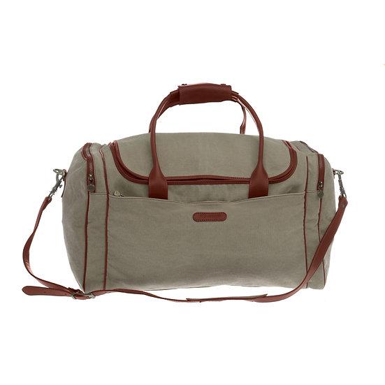 Bespoke Taupe Canvas Travel Bag