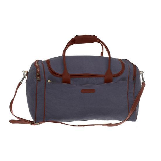 Bespoke Graphite Canvas Travel Bag