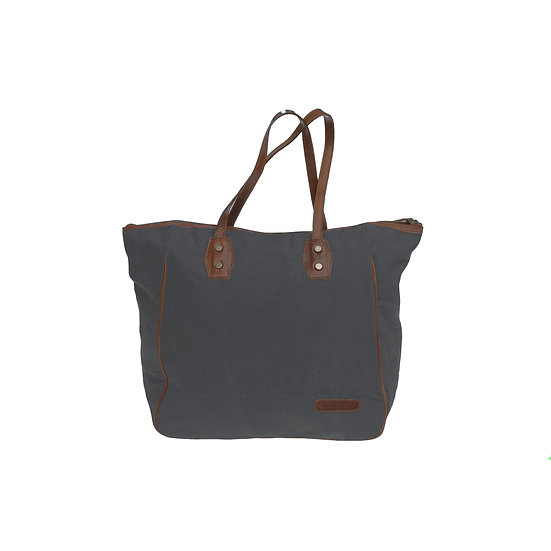 Bespoke Graphite Canvas Tote Bag