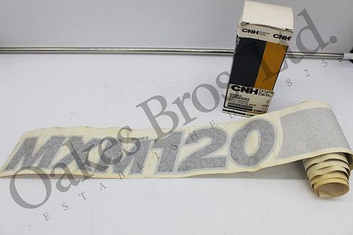 Case MXM120 Left Hand Bonnet Decal