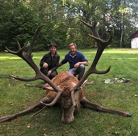 Chasse aux cerfs en Biélorussie
