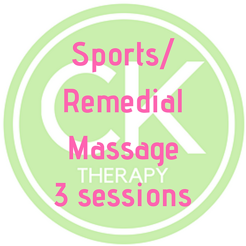 Sports/Remedial Massage - 3 sessions