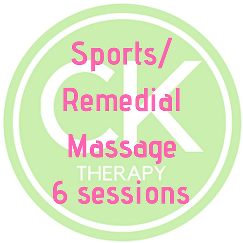 Sports/Remedial Massage - 6 sessions