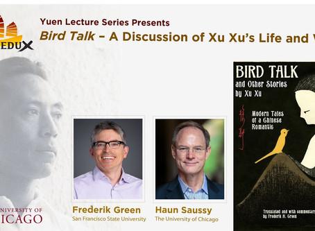 'Bird Talk' translator, Frederik H. Green talks Xu Xu's life and legacy with University of Chicago