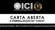 """Carta Aberta: A criminalização do """"coach"""""""