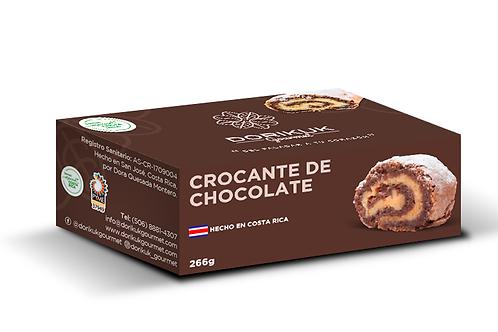 Crocante de chocolate, pequeño. Peso: 266 g. Largo: 12  cm. Porciones: 6