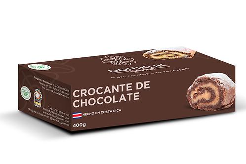 Crocante de chocolate, mediano. Peso: 400 g. Largo: 17 cm. Porciones: 8