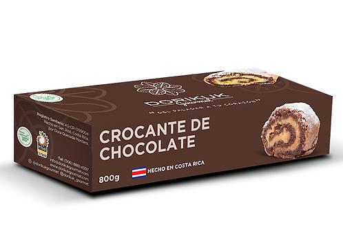 Crocante de chocolate, grande. Peso: 800 g. Largo: 34 cm. Porciones: 14